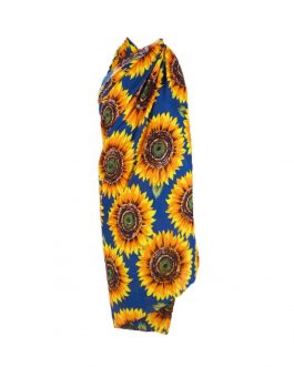 sunflower print summer/beach big scarf with tassel