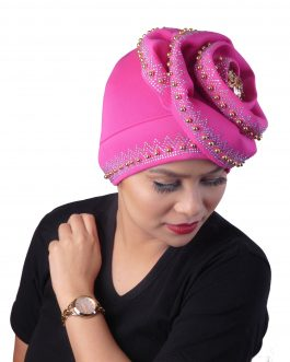 African beaded ready to wear turban hat