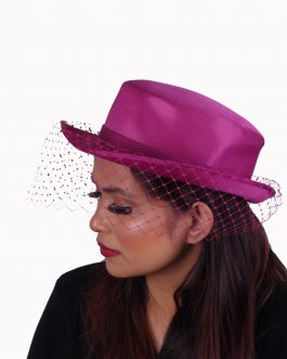 Women's solid color knit with ribbon hat