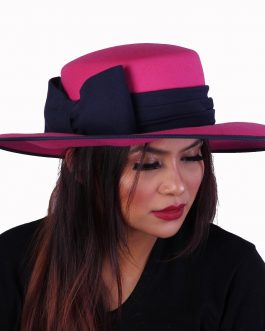 women's summer hat with ribbon