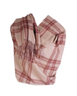 wool cashmere stripe scarf with tassel