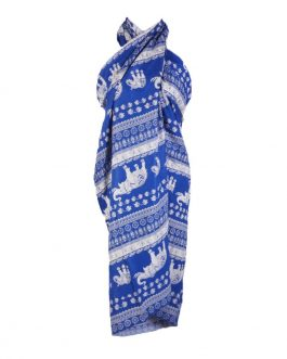 elephant print summer/beach big scarf with tassel