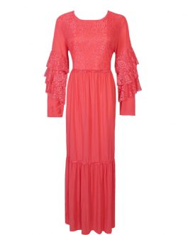 women's glitters long sleeve lace party dress