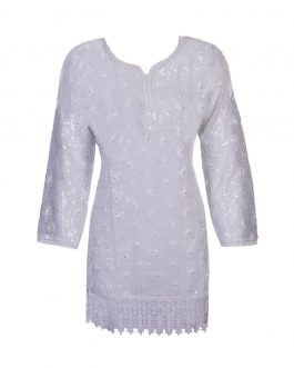 round neck sequined white tops/blouse lace long sleeve