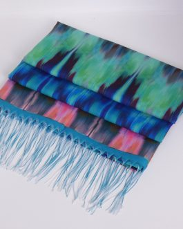 Aminata Multi-color scarf/shawl with tassels