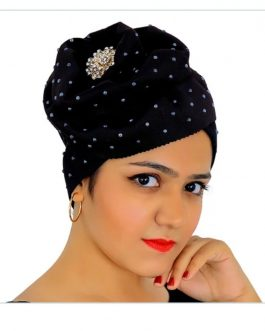 AF ready to wear beaded African turban hat