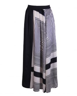 Women's stripe blouse and long skirt